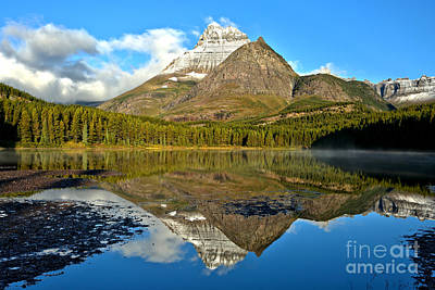 Photograph - Partly Cloudy Fishercap Reflections by Adam Jewell