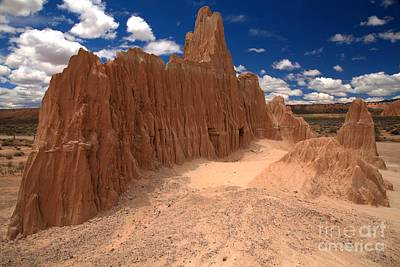 Photograph - Partly Cloudy Over Cathedral Gorge by Adam Jewell