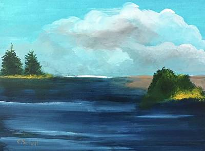 Painting - Partly Cloudy Skys by Christina Schott