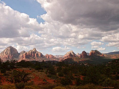 Sedona Mountains Photograph - Partly Sunny Partlly Cloudy by Harvie Brown
