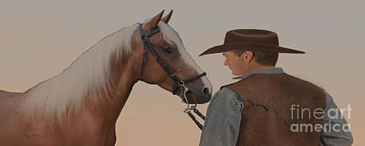 Bull Riding Painting - Partners by Corey Ford