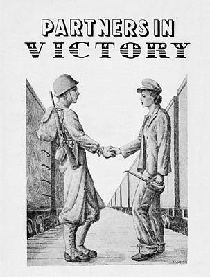 Solider Drawing - Partners In Victory by DeVille