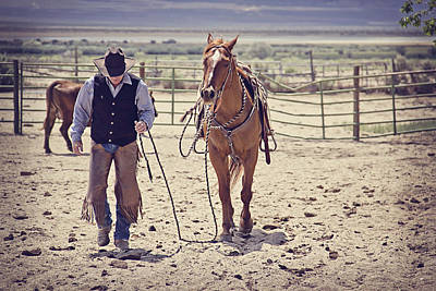 Cowboy Life Photograph - Partners by Megan Chambers