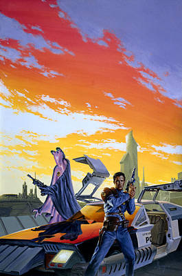 Crime Fighter Painting - Partners  by Richard Hescox