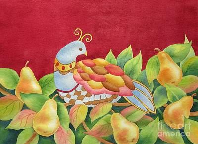 Deborah Brown Painting - Partridge In Pear Tree by Deborah Ronglien