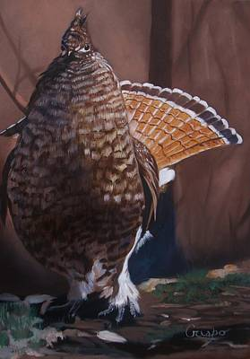 Painting - Partridge by Jean Yves Crispo
