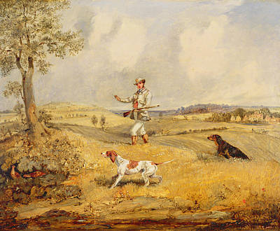 Beagle Photograph - Partridge Shooting  by Henry Thomas Alken