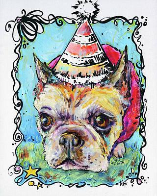 Party Animals French Bulldog Original by Kim Guthrie