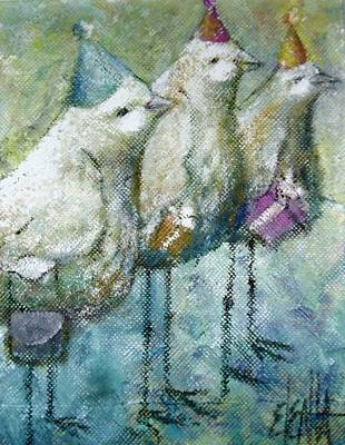 Painting - Party Birds by Eleatta Diver