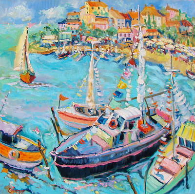 Party Boats Art Print