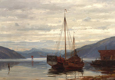 Party From Balestrand Art Print by Amaldus Nielsen