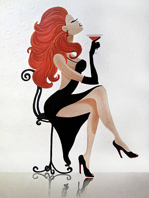 Party Girl 2 Art Print by Jill English