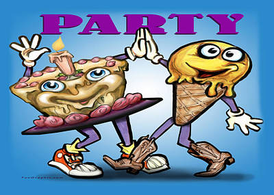 Humorous Greeting Card - Party by Kevin Middleton