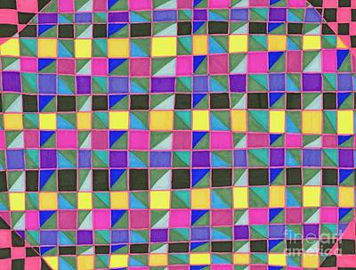 Abstract Fashion Art Drawing - Party by Lara Morrison