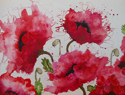 Party Poppies Art Print