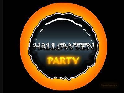 Spooky Digital Art - Party by Robert Orinski