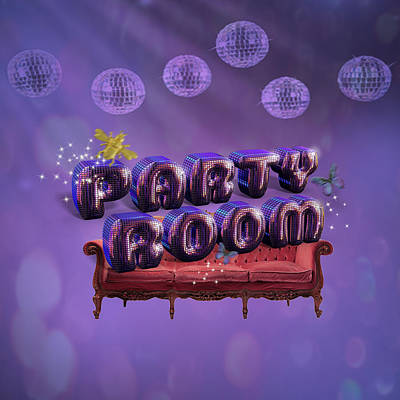 Digital Art - Party Room by La Reve Design