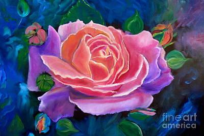 Gala Rose Art Print by Jenny Lee
