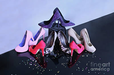 Party Shoes Print by Terri Waters