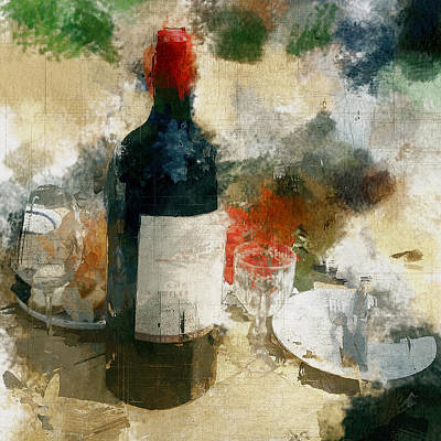 Digital Art - Party Still Life by Yury Malkov