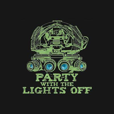 Mixed Media - Party With The Lights Off by TortureLord Art