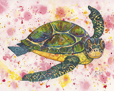 Painting - Party Turtle by Darice Machel McGuire