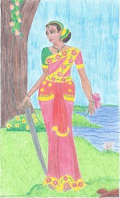 Parvati Drawing - Parvati by Megan Crow