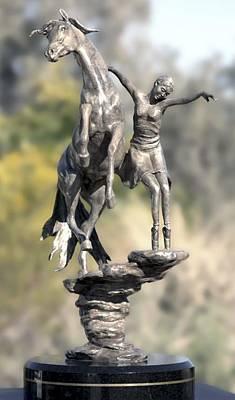 Bronze Sculpture - Pas De Deux  by J Anne Butler
