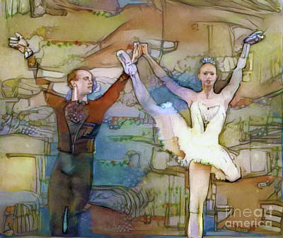 Photograph - Pas De Deux Photopaint by Nina Silver