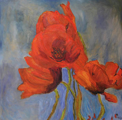 Painting - Pas De Poppies by Michael Helfen