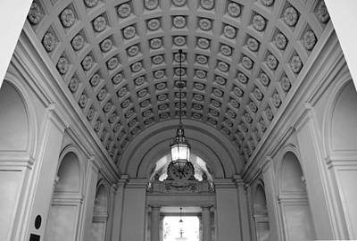 Photograph - Pasadena City Hall Black And White Entry 2 by Matt Harang