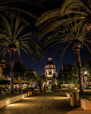 Photograph - Pasadena City Hall After Dark by Randall Nyhof
