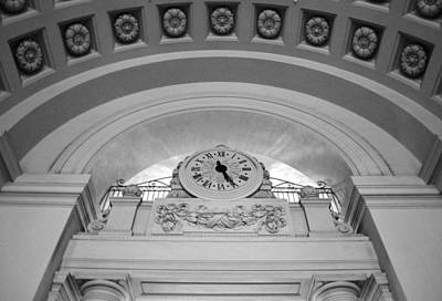 Photograph - Pasadena City Hall Clock by Matt Harang