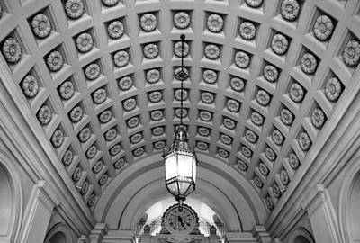 Photograph - Pasadena City Hall Entry Way Black And White by Matt Harang