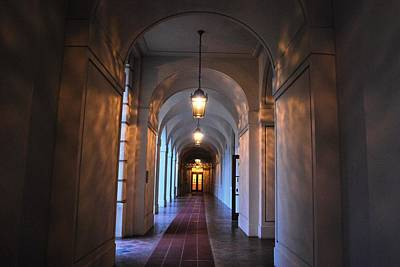 Photograph - Pasadena City Hall Hallway by Matt Harang