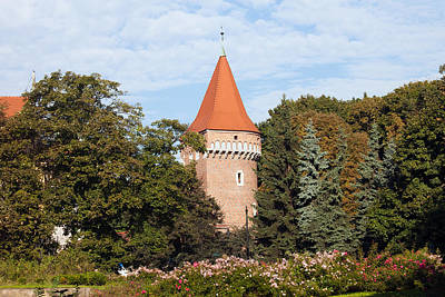 Cracow Photograph - Pasamonikow Tower And Planty Park In Krakow by Artur Bogacki