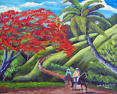 Painting - Paseo A Caballo by Luis F Rodriguez
