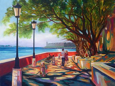 Paseo De La Princesa Art Print by Ben  Morales-Correa