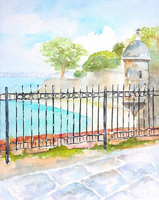Puerto Wall Art - Painting - Paseo De La Princesa Puerto Rico by Carlin Blahnik CarlinArtWatercolor