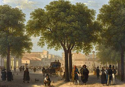 Paseo Del Prado. Madrid Art Print by Giuseppe Canella