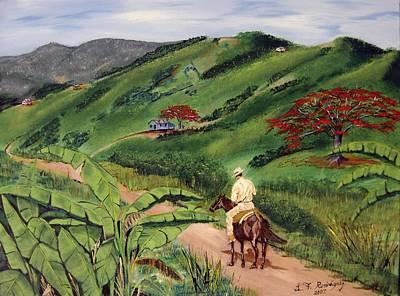 Jibaros Painting - Paseo Por El Campo by Luis F Rodriguez