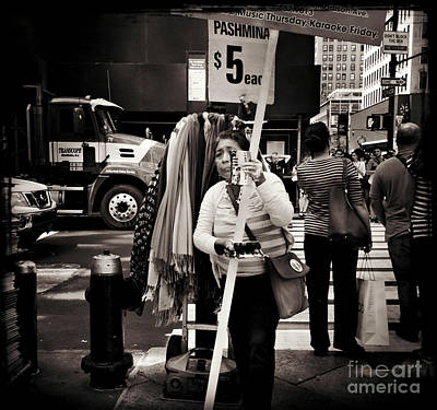 Photograph - Pashmina. Lady On The Street. by Miriam Danar