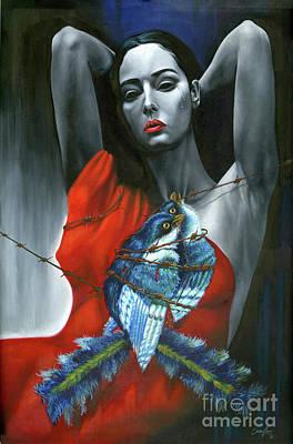 Painting - Pasion Por La Costumbre by Jorge L Martinez Camilleri
