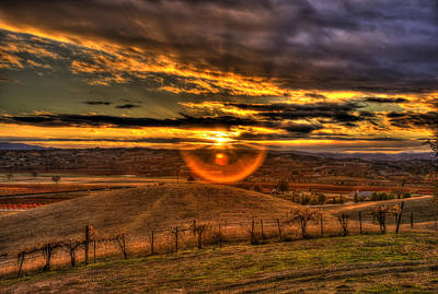 Photograph - Paso Robles Sunset by Richard J Cassato