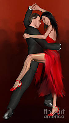 Pasodoble Art Print by John Edwards