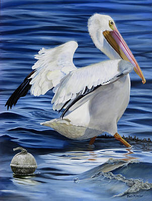 Painting - Pasquale Le Pelican by Phyllis Beiser