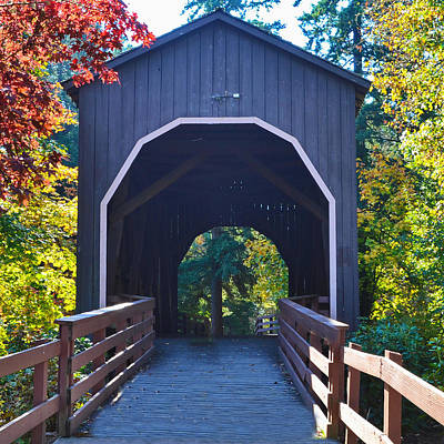 Photograph - Pass Creek Covered Bridge by Ansel Price