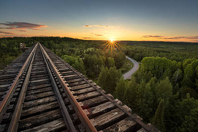 Working Hours Photograph - Pass Lake Trestle by Jakub Sisak