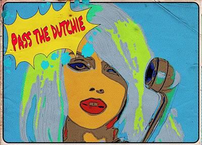 Blondie Digital Art - Pass The Dutchie  by Sara Sutton