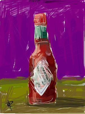 Pass The Hot Sauce Art Print by Russell Pierce